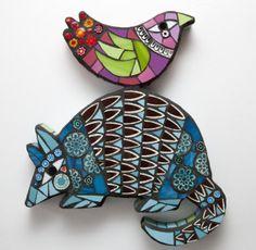 22 Amanda Anderson makes vibrant wall mounted mosaics