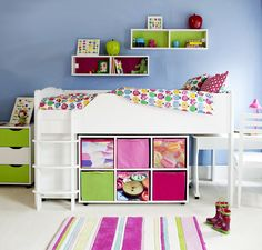 Juicy Fruits Mid Sleeper #bed #storage #functional #spacesaving #childrens