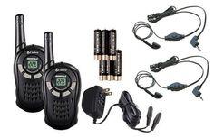 Cobra CXT125 MicroTalk 16 Mile Walkie Talkie 2-Way Radios   2 Earbud