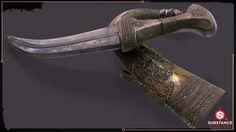 ArtStation - Meccan Dagger (knife), Saurabh Sonkar