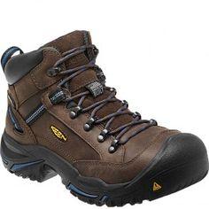 1012771 KEEN Men's Braddock Mid AL WP Safety Boots - Bison www.bootbay.com