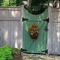 painted wood garden gates | painted wooden fence gate. Should I paint my gates like this?(Wooden Porch Step)
