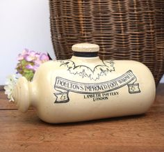 Antique ceramic bed or foot warmer hot water by GilbertandCrick