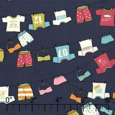 Trunks Tops Deep Sea ~ Lucy's Crab Shack - Love this fabric!
