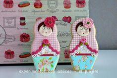 Matruiska Dolls Patricia Experimentos con Auzcar - edible papers