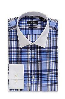 'Jonne'   Slim Fit, Medium Point Collar Cotton Plaid Dress Shirt