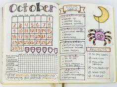 My Bullet Journal setup for October!