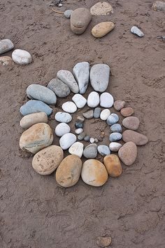 Land art by Richard Shilling - Not My Spiral - This was done by one of the schoolkids that set up next door to us