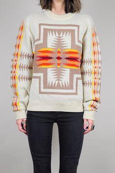 vintage 70's PENDLETON wool Navajo Sweater /// NOIROHIO VINTAGE