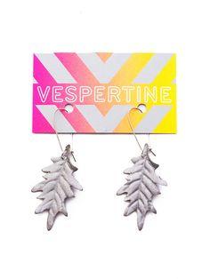 Reflective Safety Accessory Oak Earrings by VespertineNYC on Etsy, $30.00 in brown :)
