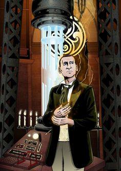 Fan art of the ninth Doctor's regeneration.
