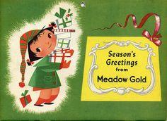 1954 Meadow Gold Mary Blair calendar by grickily, via Flickr