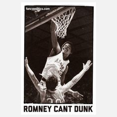Romney Can't Dunk 12x18 now featured on Fab.