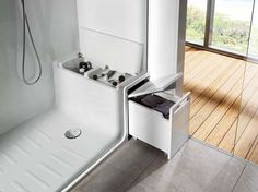 Vano doccia Hide & Seat di Roca   Leonardo.tv