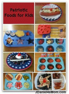 Patriotic Themed Meals, Snack and Desserts for Kids. Great for the 4th of July, Flag Day, Memorial Day, Labor Day, and Veterans' Day