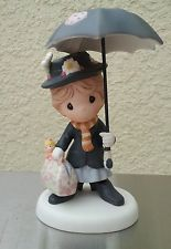 Precious Moments Disney Mary Poppins With Umbrella Figurine 113029 Pinterest And
