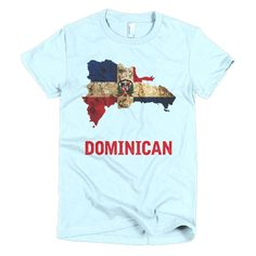 The Dominican Republic Flag T-Shirt is printed on American Apparel and made out of ringspun cotton. Perfect for the Olympic games and FIFA events. Free shipping.