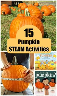Pumpkin STEAM Activities for Kids - fun science, math, art and engineering activities for toddlers, preschool and elementary ages! Great learning ideas for October! Early Learning Activities, Creative Activities For Kids, Halloween Activities For Kids, Steam Activities, Kids Fun, Halloween Games, Fun Learning, Pumpkin Stem, Best Pumpkin