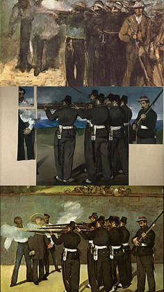 The #Execution of the Emperor Maximilian of Mexico (1867) Édouard Manet. Museum of Fine Arts, Boston / National Gallery London / Kunsthalle, Mannheim.