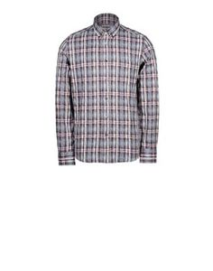 Button-down shirt in tartan jacquard fabric. Regular fit.