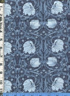 Fabric Moda  Best of Morris William Morris Pimpernel 8147 23 blue Arts and Crafts style Art Nouveau style design