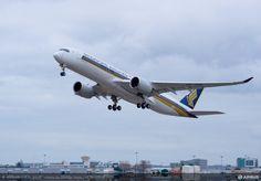 Primeiro A350 XWB da Singapore Airlines voou pela vez