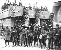 February 10, 1916-Conscripted soldiers being taken to the Western Front by Military Buses. British conscription law goes into effect