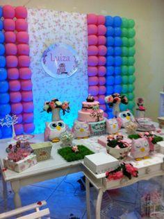 decoração festa infantil Corujinhas - lindo lindo!!