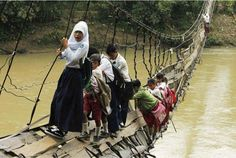 New bridge means children in Indonesia no longer have to risk their lives to get to school