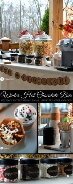 Winter Hot Chocolate Bar   Holiday Entertaining Ideas #bigseason @biglots #biglots #ad #hotchocolate #bar #party