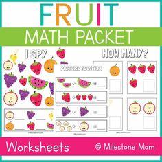 Fruit Math Packet