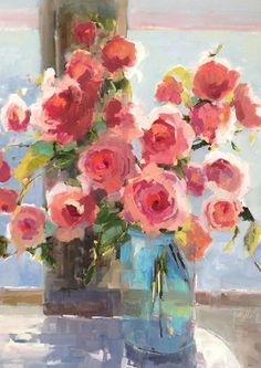 Beach Roses by Janet