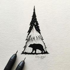 Minimal Illustrations Combine Landscapes & Wild Animals - UltraLinx