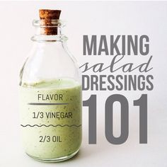 """Another Tip here from @littlecoconutty ! I am NEVER buying store bought dressings again. Homemade salad dressing is easy, fast and tastes way better. It really is so forgivable. For Vinaigrettes: 1:1 or 2:1 oil/vinegar ratio. If I'm using a peach, orange, lemon or cilantro for flavor I use 2:1 ratio of oil/vinegar. I always use avocado oil because it has such a light taste and my vinegars of choice are ACV (if you use Apple cider vinegar use less because it's so strong) rice vinegar (a…"
