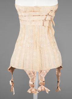 Corset ca. 1912 via The Costume Institute of The Metropolitan Museum of Art