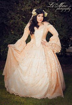 Custom Off Shoulder Antoinette Victorian Style by RomanticThreads, $845.00