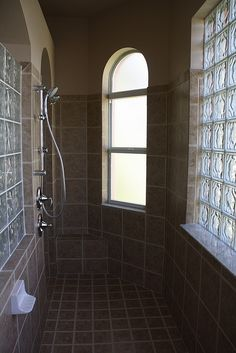 Master Shower? Like the wall of shower but not the glass block.  Very outdated.