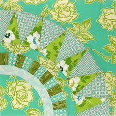 "12"" New York Beauty block for quilt in progress. (#3)"