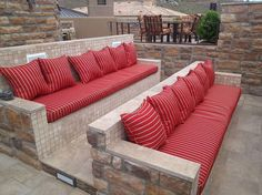 Simple, smart and durable seating for the outdoor home theater [Design: Republic Gardens]