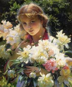 the peonies, 1915, charles courtney curran