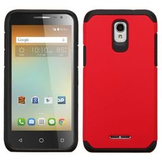 Insten Hard PC/ Silicone Dual Layer Hybrid Rubberized Matte Case Cover For Alcatel One Touch Elevate #2162320