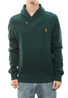 645f313d10 Polo Ralph Lauren Men s Green Long Sleeve Polo Collar Sweater  Amazon.com   Clothing