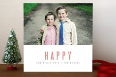We're Happy Holiday Photo Cards by Kate Grono at minted.com