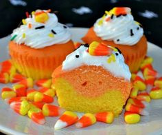 #halloweentreats#halloweencupcakes#candycornrecipes.