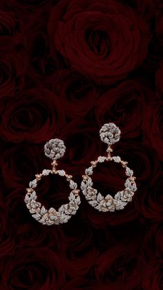 Certified White Gold Diamond with Screw Back and Post Stud Earrings J-K Color, Clarity) – Fine Jewelry & Collectibles Diamond Earrings Indian, Indian Jewelry Earrings, Fancy Earrings, Jewelry Design Earrings, Gold Earrings Designs, Indian Wedding Jewelry, Gold Jewellery Design, Ear Jewelry, Indian Weddings