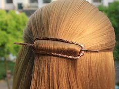 Rectangle Hair Barrette, Metal Hair Clip Hair Pin Hair Stick, Geometric Hair Slide Hair Jewelry, Pon