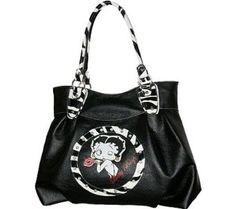 Betty Boop Signature Product Women's Betty Boop Bag BQ1012 Casual Handbag,Black,$29.45