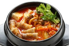 Kimchi chigae is a very popular soup made primarily with kimchi. It is often prepared using older, more fermented and ripe kimchi, creating a stronger and flavorful taste while fresh kimchi may not bring out the full and rich flavors.