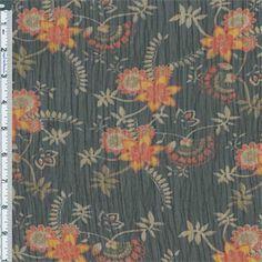 Items similar to Black/Orange Stylized Floral Yoryu Chiffon, Fabric By The Yard on Etsy Muslin Fabric, Chiffon Fabric, Floral Fabric, Club Style, Gorgeous Fabrics, African Fabric, Fashion Fabric, Orange, Prints