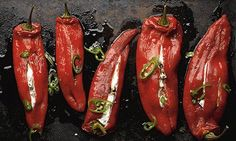 Yotam Ottolenghi's stuffed peppers with ricotta and mascarpone: 'Use the best ricotta you can get.' Photograph: Colin Campbell for the Guard...